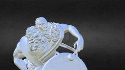 Ourok, Half-Orc Bard. 3D Model