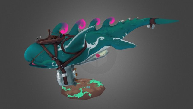 Flying Whale 3D Model