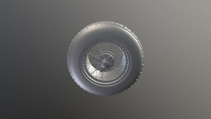 Wheel modeling exercise 3D Model