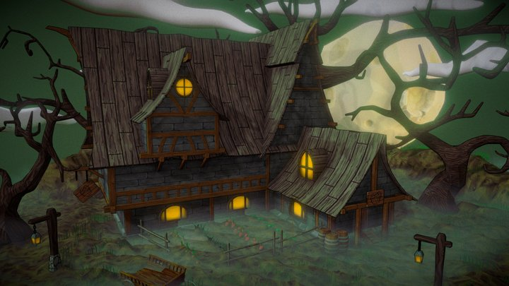 Haunted House 3D Model