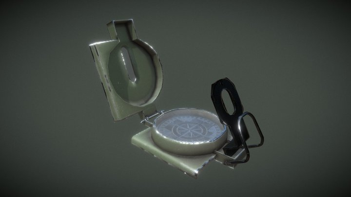 Used Military Compass 3D Model