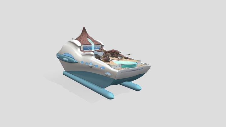 Tikka Island Yatch 3D Model