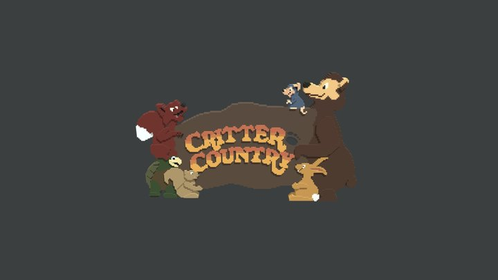 Critter Country Land Sign Disney Files Included 3D Model