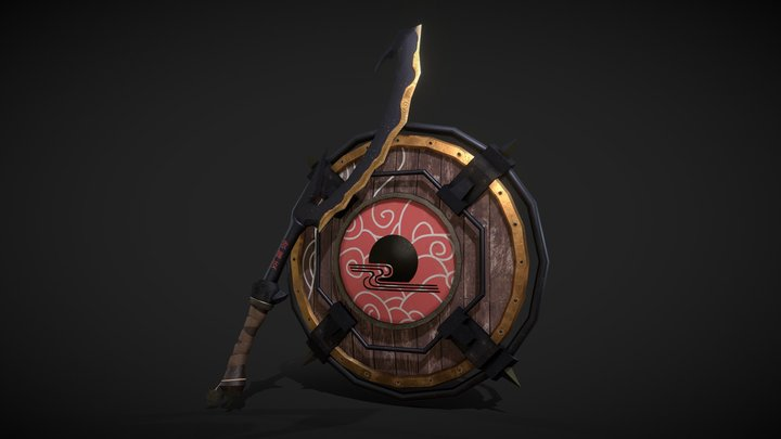 Shinobi Shield and Sword 3D Model