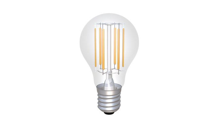 LED Superstar Classic A 75 Filament Lamp 3D Model