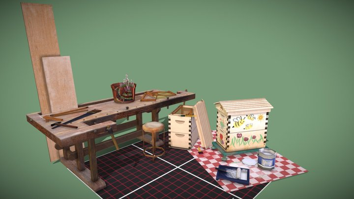 5Prop Assignment - The Griffith's DIY Workplace 3D Model