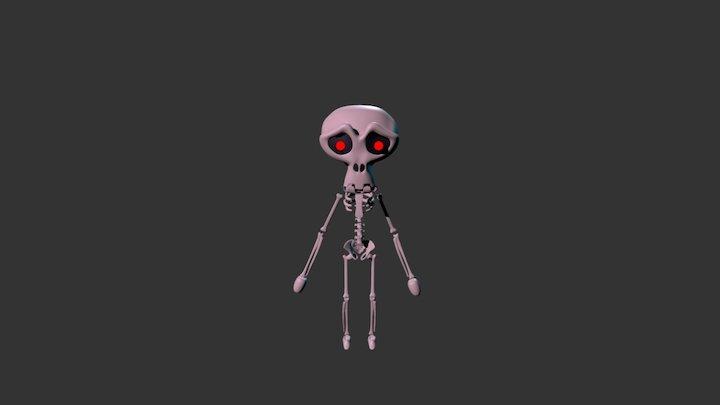 Monkey Man Skeleton 3D Model