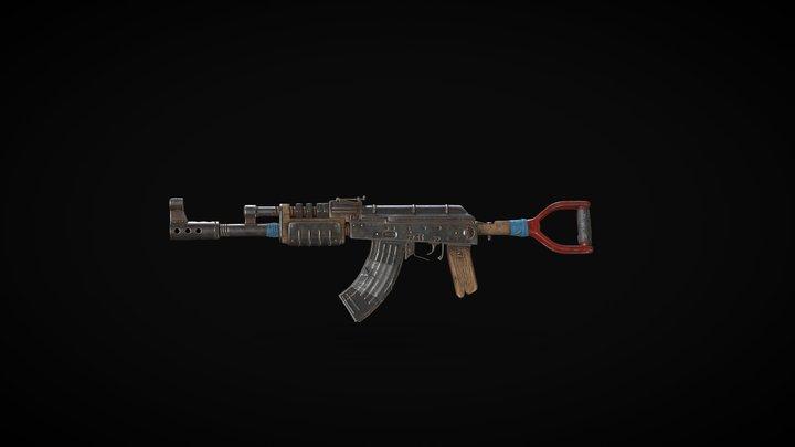 AK-47 2020 Glow Up 3D Model