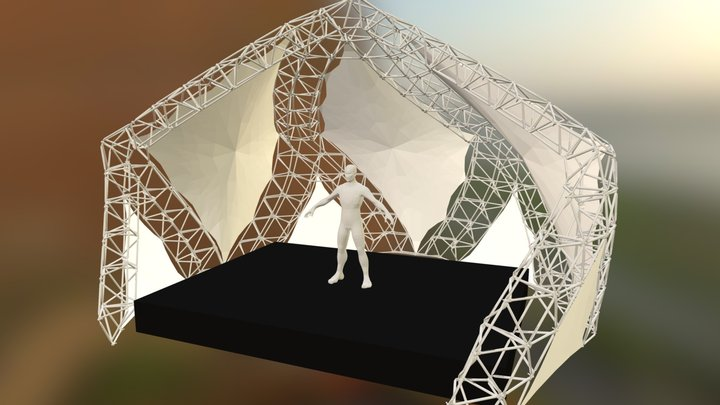 Stage for the Airstream Park 3D Model