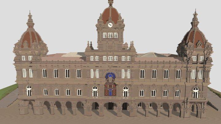 Ayuntamiento de A Coruña, España. 3D Model