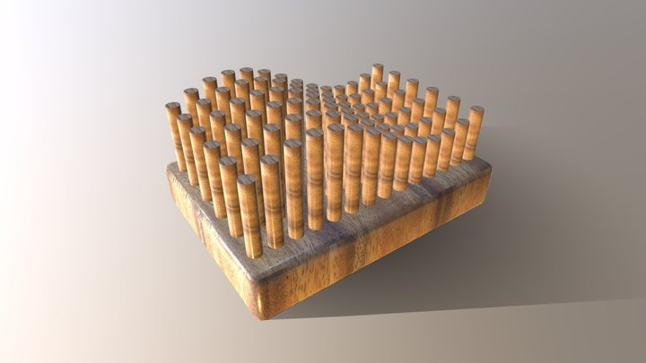 Procedural Animated Push Pin - WAVE 3D Model