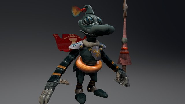 Drake The Duck Knight 3D Model