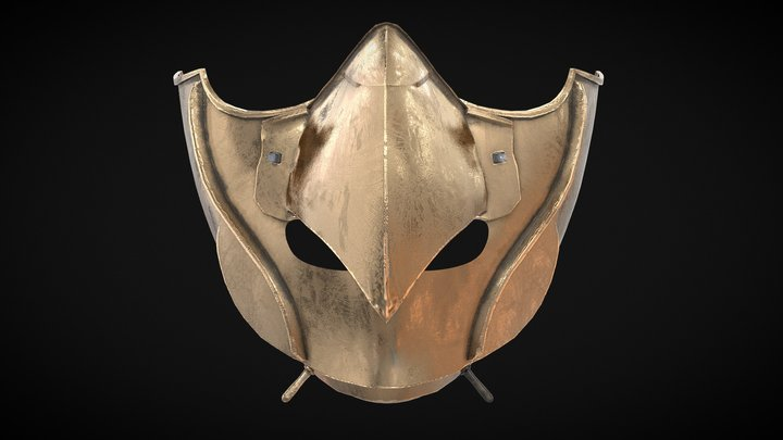 A Tengu Mempo Face Mask Edo Period 3D Model