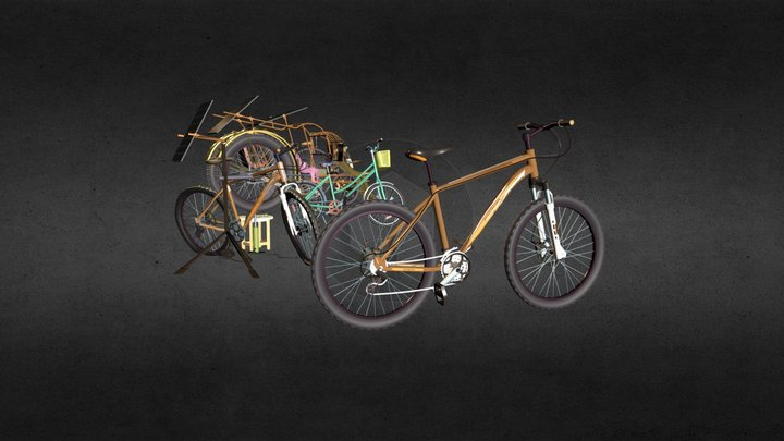 5 Kinds of Bikes 3D Model