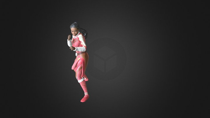 Lisa BP Knee Jabs To Uppercut 3D Model