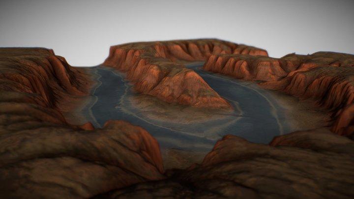 Canyon Landscape 3D Model