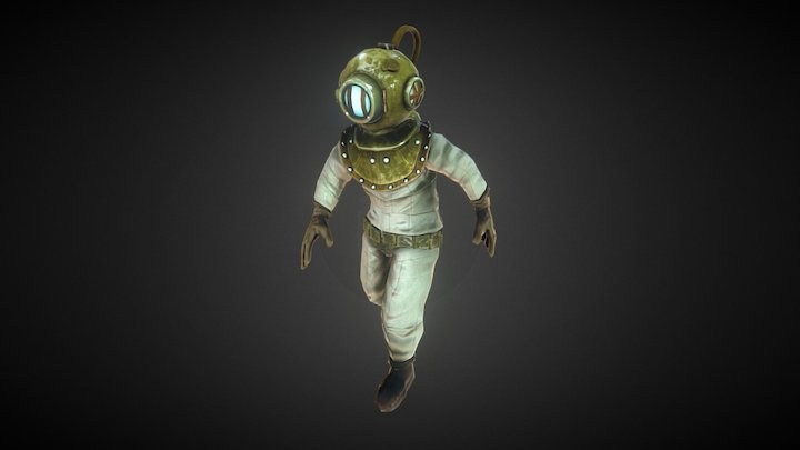 "Classic Diver ""Captain Cutler"" 3D Model"