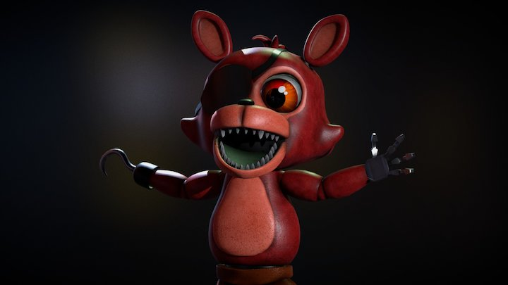 Adventure Foxy FNAF WORLD 3D Model