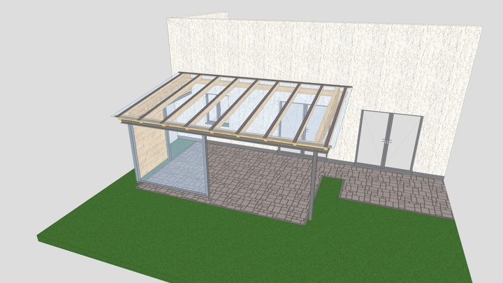 Terrassenüberdachung Tyrlaching 3D Model