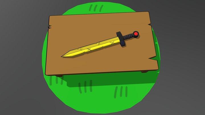 Finn's Golden Sword (Scarlet) 3D Model
