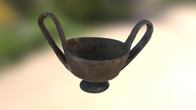 Bucchero kantharos (Italy) 7th century BC 3D Model