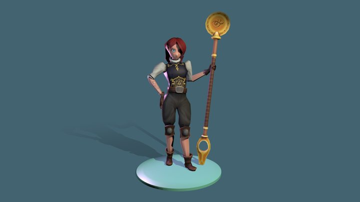 Low Poly Original Character 3D Model