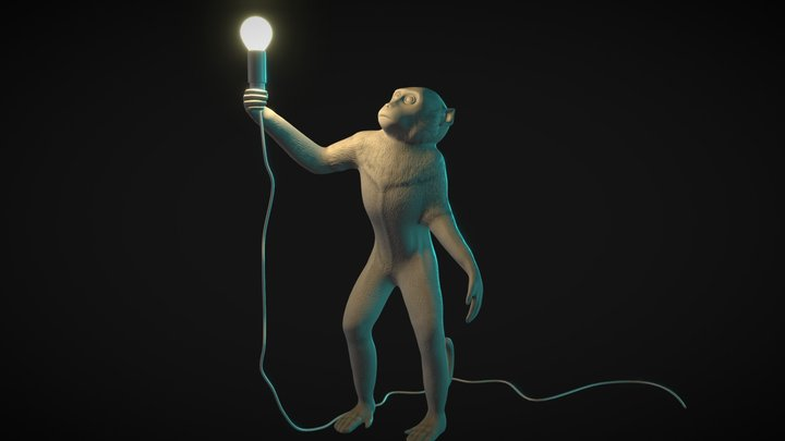 SELETTI The Monkey Lamp 3D Model