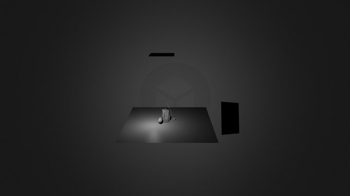 Carrinho de Lixo 3D Model