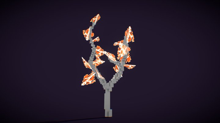 Holo Tree. Free hand-painted model 3D Model