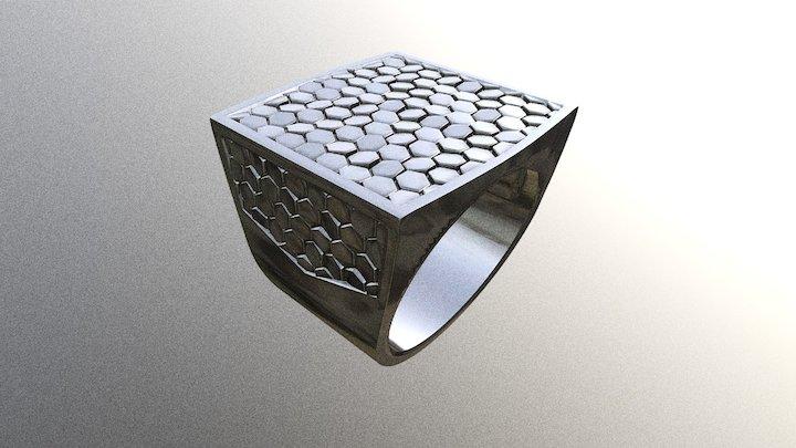 Men's ring truth - western pattern 3D Model