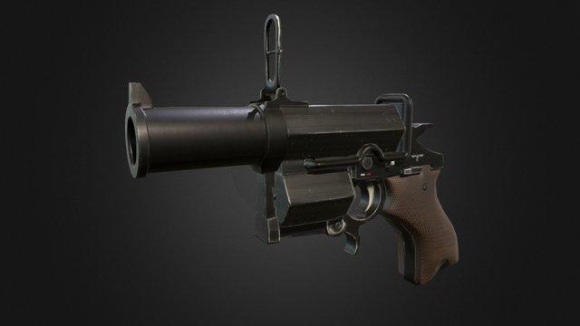Kampfpistol Wolfenstein 3D Model