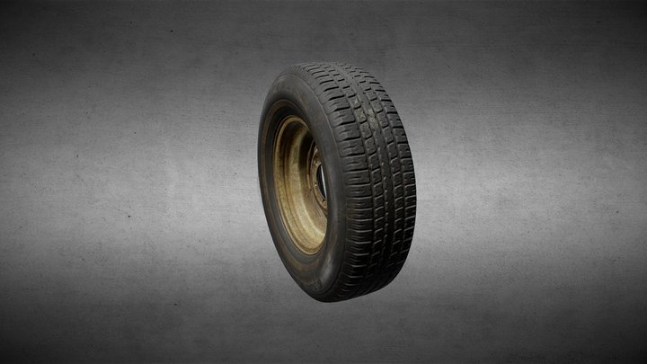 Old Spare Tire 3D Model