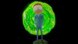 President Evil Morty 3D Model