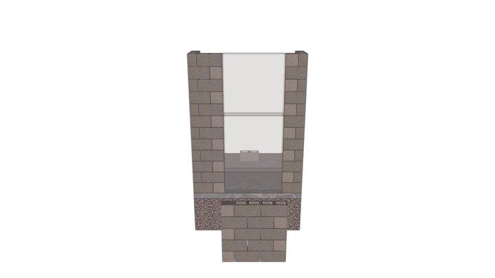 Hollow concrete brick assignment 3D Model