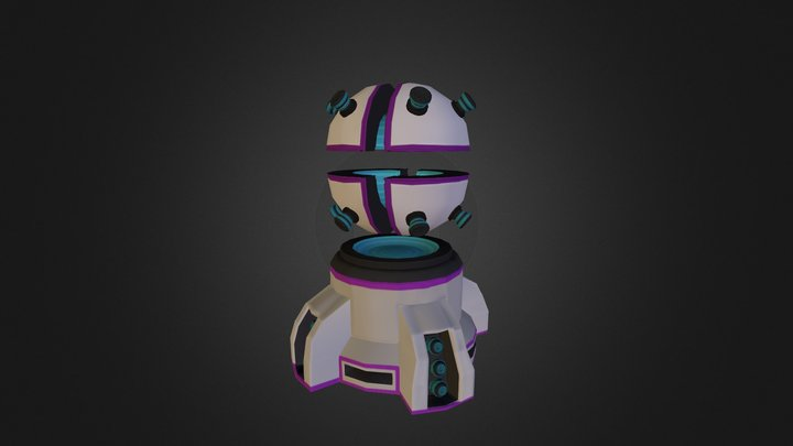 Magnetic Turret 3D Model