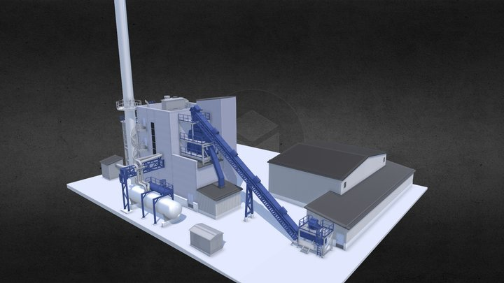 Scale model of a factory 3D Model