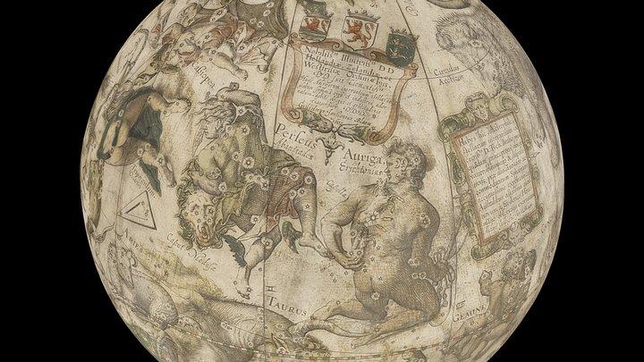 Willem Janszoon Blaeu Celestial Globe 1602 3D Model
