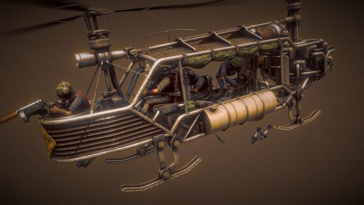 Post-Apocalyptic Chopper 3D Model