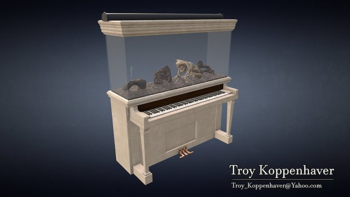 Aquarium Piano 3D Model