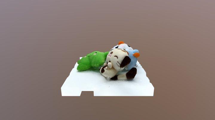 pile stuffed animals 3D Model