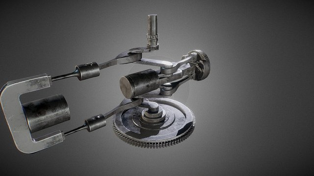 [Animation] Engine cylinder 3D Model