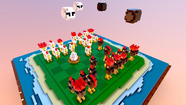 Chicken Chess 3D Model