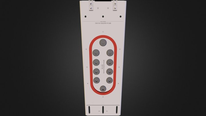 Tray Assembly, 4 MCU, ARINC 600 3D Model