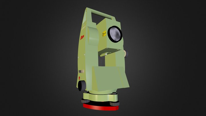 Leica Total Station 3D Model