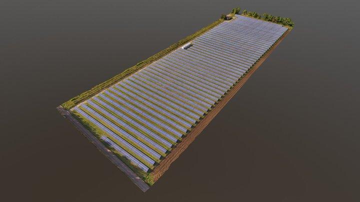 Solar Power Plant UAV photogrammetry inspection 3D Model