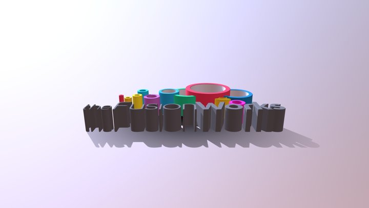 The Fusion Works Logo 3D Model