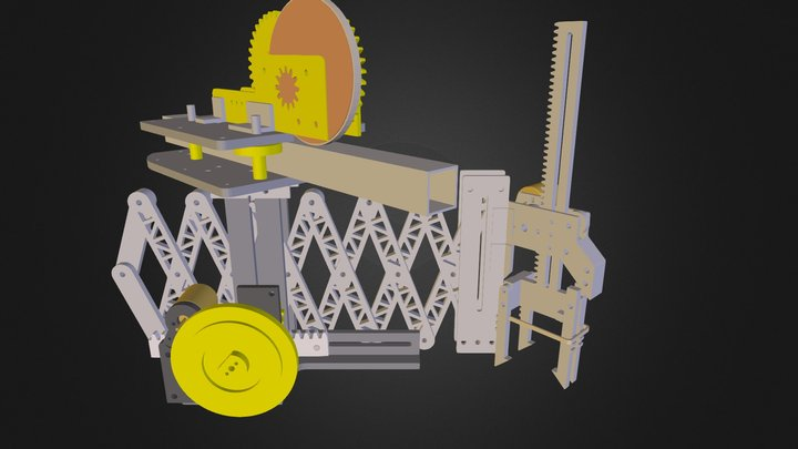 Scissor Jack Robot - At Rest 3D Model