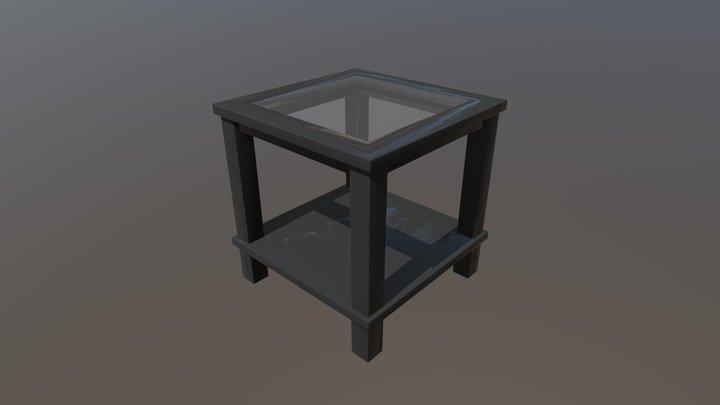 Modern Glass Side Table 3D Model