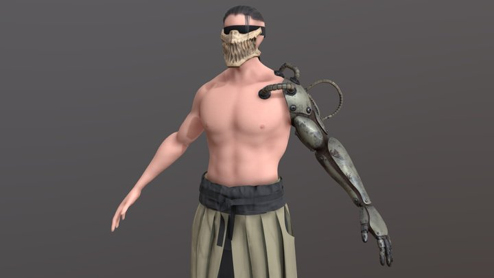 Shinobi Cyborg 3D Model