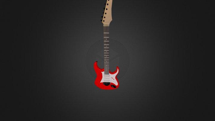 Red E-Guitar 3D Model